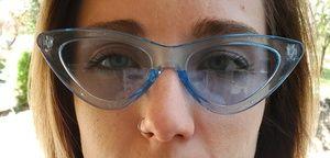 Extreme Cat Eye Clear Blue Frame lenses